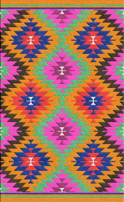 Buy Flatweave rugs and carpet online - K02(FW)(Non-Palette) - 2nd Actual Design