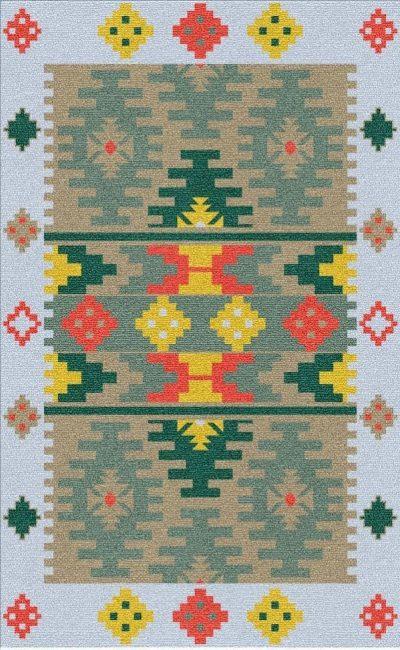 Buy Flatweave rugs and carpet online - K16(FW)(5-Contrast-4)