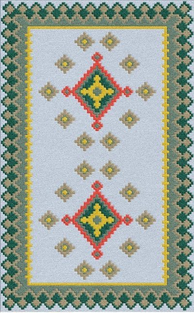 Buy Flatweave rugs and carpet online - K17(FW)(5-Contrast-4)