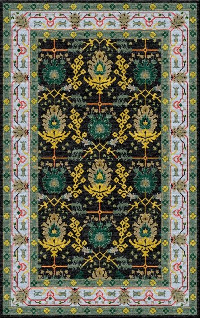 Buy Hand Tufted rugs and carpet online - P01(HT)(5-Contrast-1)