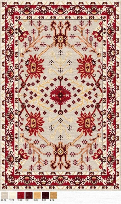 Buy Hand Tufted rugs and carpet online - P02(HT)(1-Warm-2)