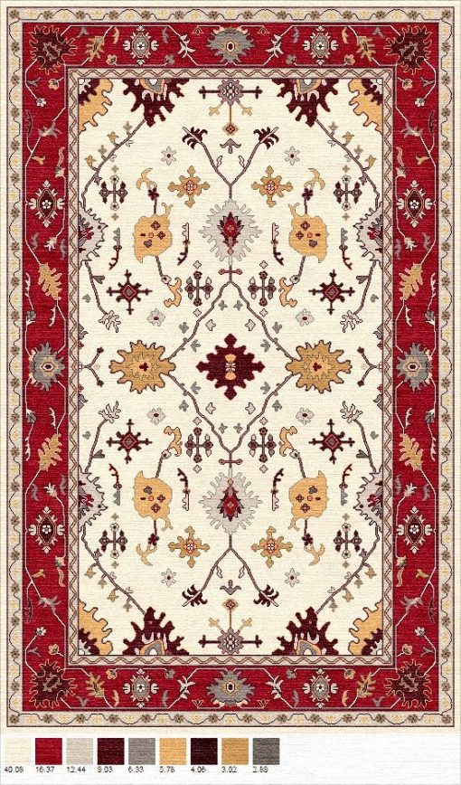Buy Hand Tufted rugs and carpet online - P05(HT)(1-Warm-2)