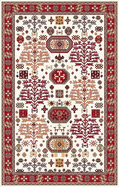 Buy Hand Tufted rugs and carpet online - P18(HT)(1-Warm-2)