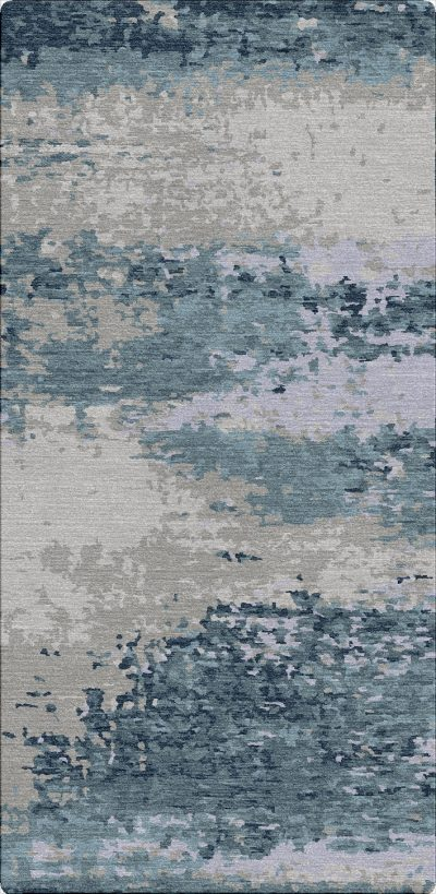 Buy Hand Tufted rugs and carpet online - RM064-(CST)(HT)(410X200CM)(W+V)(Tie-Dye)(Mixing) - Actual Design 1