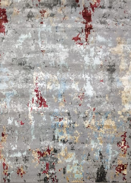 Buy Hand Knotted rugs and carpet online - RM080-(CST)(HK)(300X244CM)(W+V)(Tie-Dye) - Actual Design 1