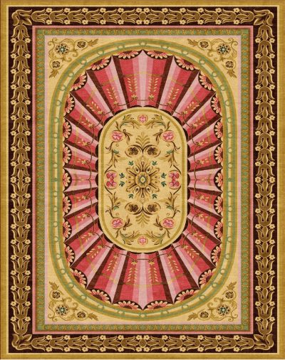 Buy Hand Knotted rugs and carpet online - RM088-(CST)(HK)(541X341CM)(W)(Tie-Dye)(Projects) - Actual Design 1