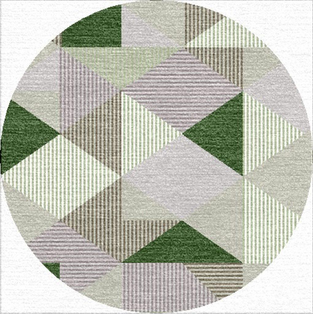 Buy Hand Flatweave rugs and carpet online - RM091-(CST)(FW)(120CM Dia)(W) - Actual Design 1