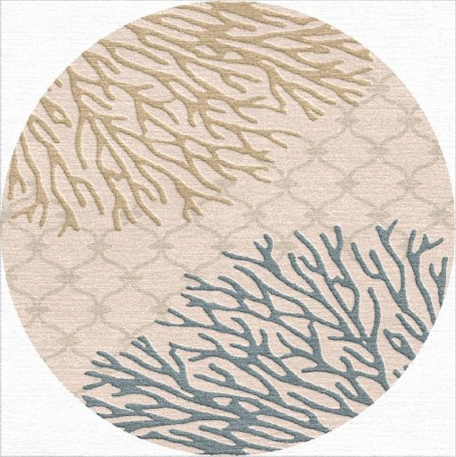 Buy Hand Tufted rugs and carpet online - RM112-(CST)(HT)(300CM Dia)(W) - Actual Design 1