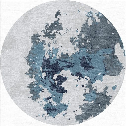 Buy Hand Tufted rugs and carpets online - RM224-(CST)(HT)(200CM Dia)(W+V)(Mixing) - Actual Design 1