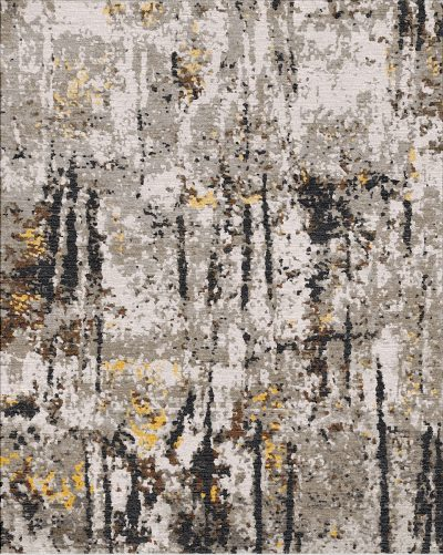 Buy Hand Knotted rugs and carpets online - RM038-(CST)(HK)(274X183CM)(W+V)(Carving)(High-Low)(Tie-Dye)(Mixing) - Actual Design 1