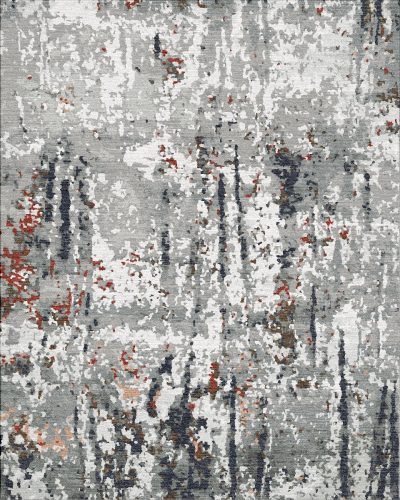 Buy Hand Knotted rugs and carpets online - RM038-(CST)(HK)(274X183CM)(W+V)(Carving)(High-Low)(Tie-Dye)(Mixing) - Actual Design 2