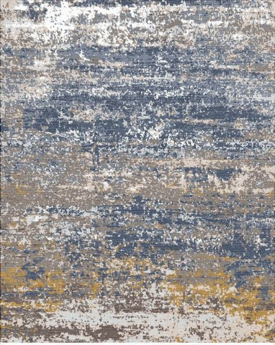 Buy Hand Knotted rugs and carpets online - RM025-(CST)(HK)(274X183CM)(W+V)(High-Low)(Tie-Dye)- Actual Design 1